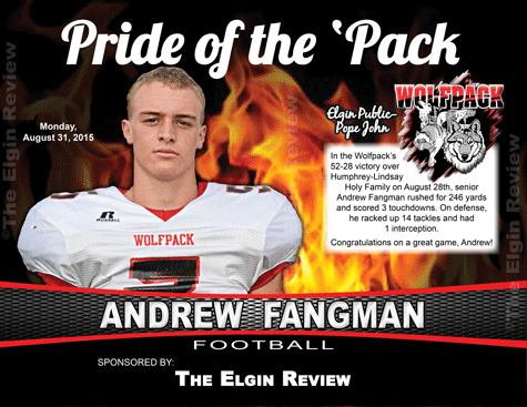 Wolfpack football player Andrew Fangman