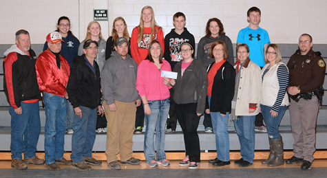 Members of the EHS Student Council raised funds for the Elgin Volunteer Fire Department. E-R photo
