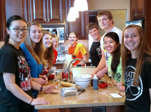 PJCC Prayer Group Bakes Christmas Cookies. Submitted