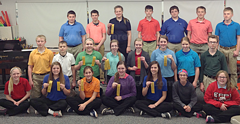 Members of the 2015-16 PJCC Junior High Band, Elgin Nebraska. Photo submitted