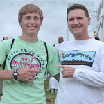 Ryan Pelster (l) has been eyeing Dale Mackel's two mile record throughout his career. Photo submitted