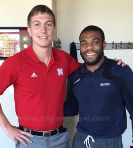 Dr. Derek Scholl and US Olympic wrestler Jordan Burroughs. Photo submitted