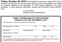 early voting ballot