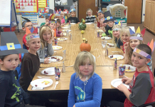 The EPS Kindergarten and First Graders celebrated Thanksgiving. Photo submitted