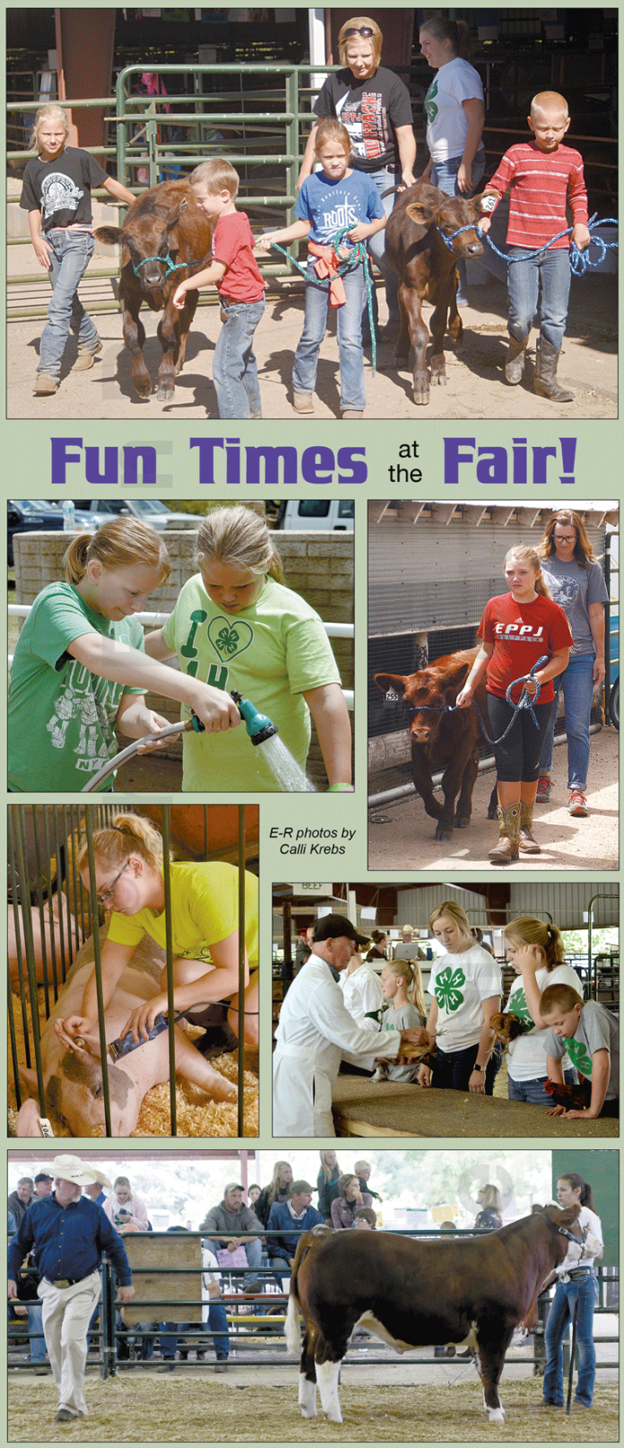 Elgin Nebraska residents prepared to show at the Antelope County Fair.