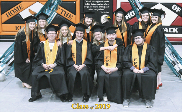 Elgin, Nebraska Antelope County, Nebraska Elgin Public School EPS graduates graduation 2019