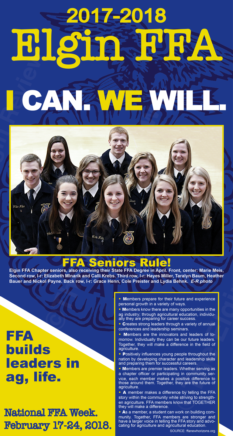 Elgin, Nebraska FFA  Antelope County Nebraska