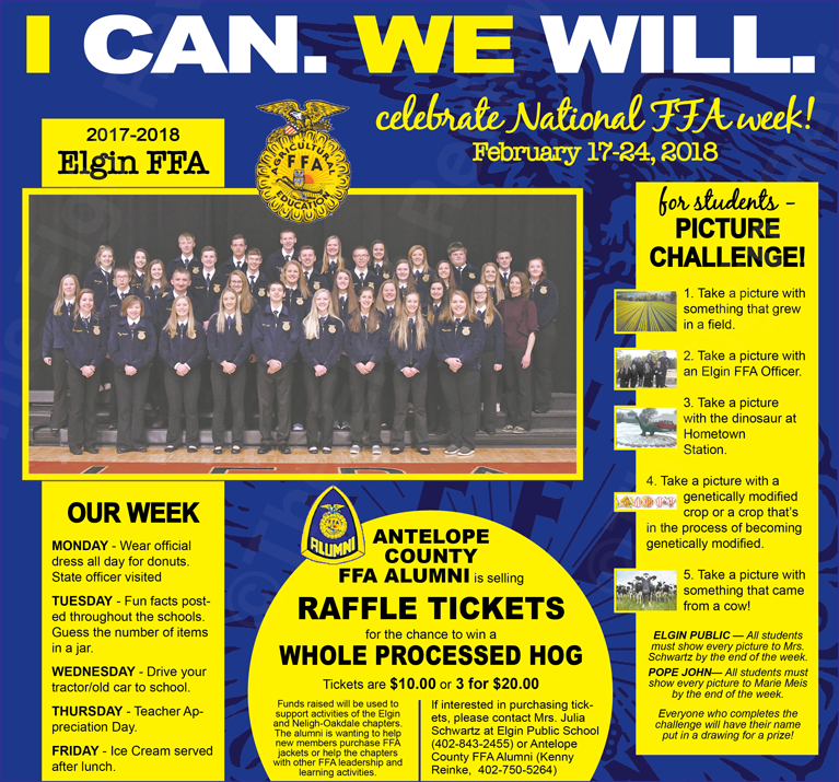Elgin, Nebraska  Antelope County, Nebraska, Elgin FFA Chapter