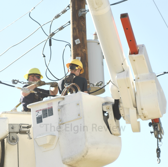 Elgin, Nebraska Antelope County Nebraska Elkhorn Rural Public Power District ERPPD The Elgin Review pole fire
