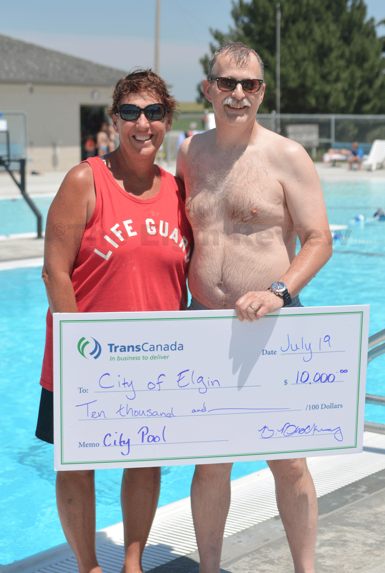 """TransCanada helps """"the cause"""" at the pool"""