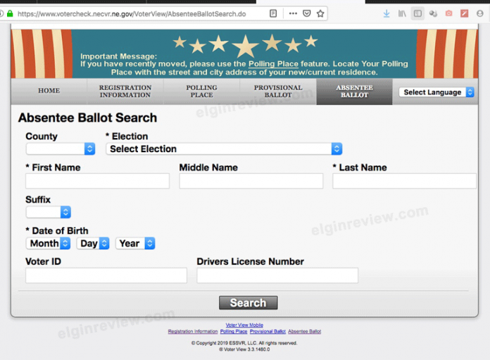 Elgin Nebraska Antelope County Nebraska Voter Check Recall Election Voter Check
