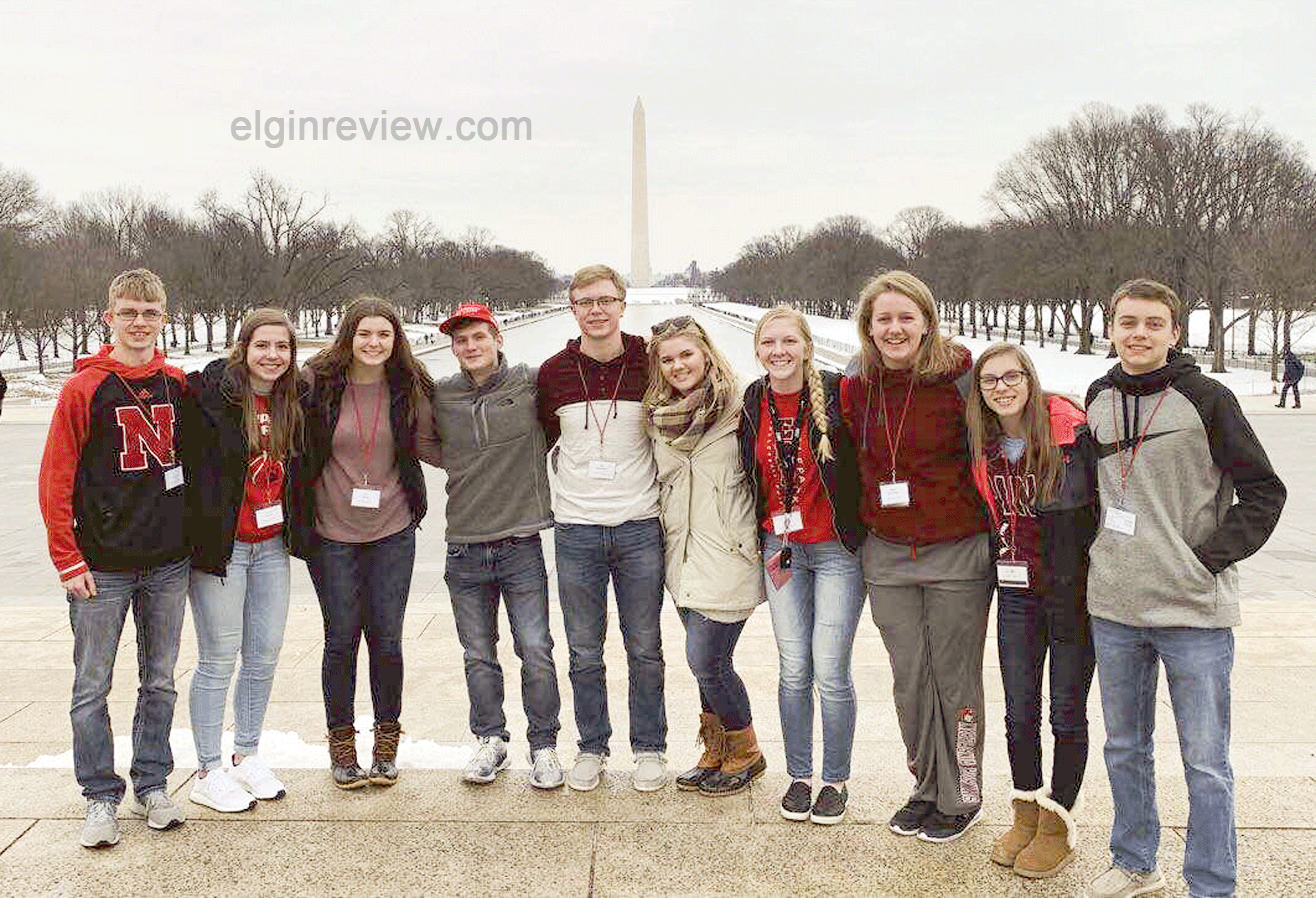 March for Life Elgin, Nebraska Antelope County Nebraska news RJ Lierman Marissa Preister Breanna Bartak Mark Staley Kyle Schumacher Skylar Reestman Faith Kinney Alyssa Burenheide Jasmine Dozler Layne Bullock Pope John XXIII Central Catholic High School PJCC